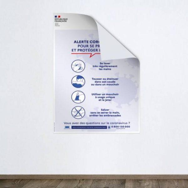 affiche verticale covid